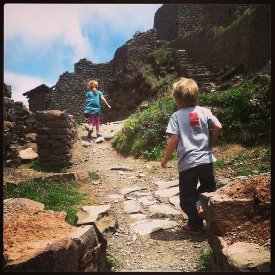 exploring a pre-Incan village